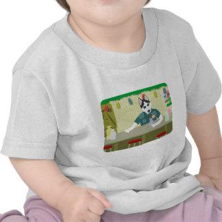 Siberian Husky Tiki Bar T Shirts