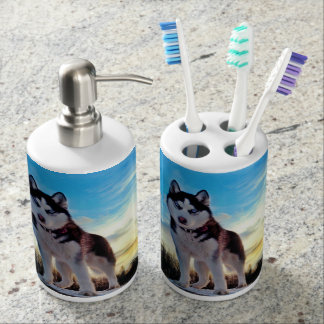 Siberian Husky Toothbrush Holders