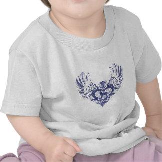 Siberian Husky Winged Heart Tshirts