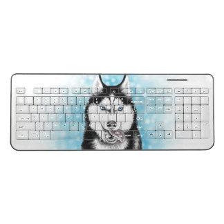 Siberian Husky Wireless Keyboard