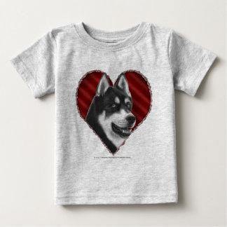 SIberian Husky with Heart Baby T-Shirt