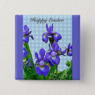 Siberian Iris Happy Easter Coordinated Items 15 Cm Square Badge