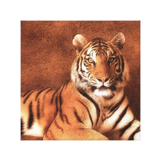Siberian Tiger Art - Canvas