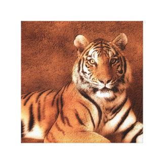 Siberian Tiger Art - Canvas Canvas Print