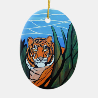 Siberian Tiger Ceramic Ornament