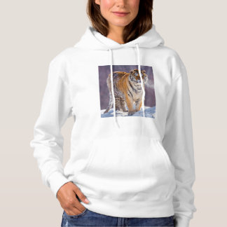 Siberian tiger in snow, China Hoodie