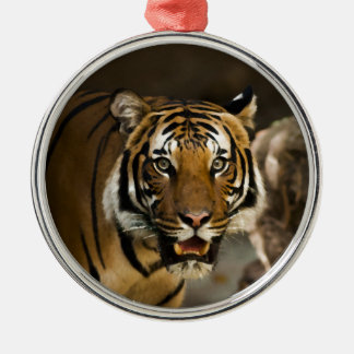 Siberian Tiger Metal Ornament