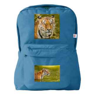 SIBERIAN TIGER  ON AMERICAN APPAREL BACKPACK