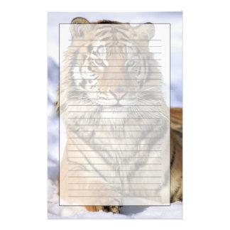 Siberian Tiger, Panthera tigris altaica, Asia Stationery Design