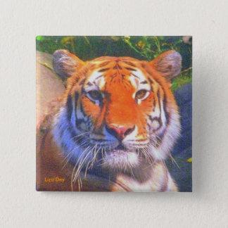 Siberian Tiger Square Button