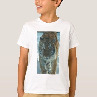 Siberian Tiger Stalking Kids Shirt