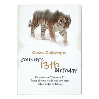 Siberian tiger-Tiger-double exposure-wildlife Card