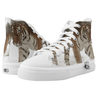 Siberian tiger-Tiger-double exposure-wildlife High Tops