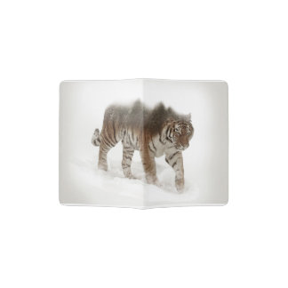 Siberian tiger-Tiger-double exposure-wildlife Passport Holder