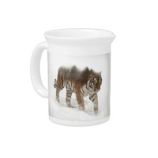 Siberian tiger-Tiger-double exposure-wildlife Pitcher