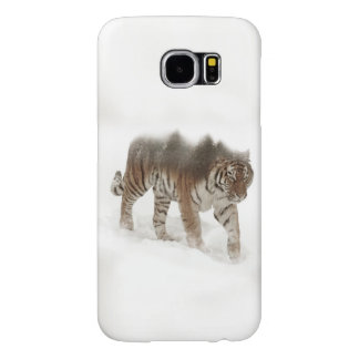 Siberian tiger-Tiger-double exposure-wildlife Samsung Galaxy S6 Cases