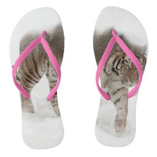 Siberian tiger-Tiger-double exposure-wildlife Thongs