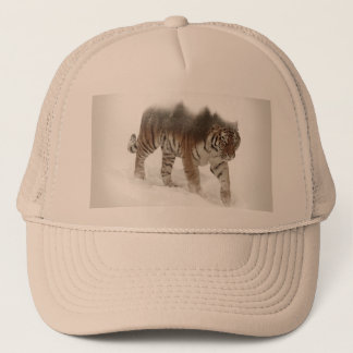 Siberian tiger-Tiger-double exposure-wildlife Trucker Hat