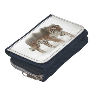 Siberian tiger-Tiger-double exposure-wildlife Wallets