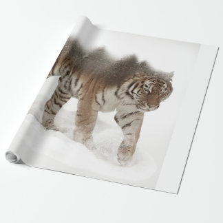 Siberian tiger-Tiger-double exposure-wildlife Wrapping Paper