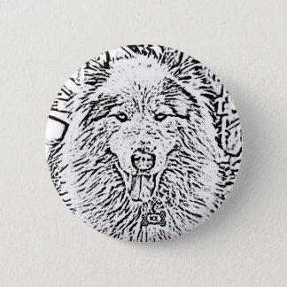 Siberian Wolf Button