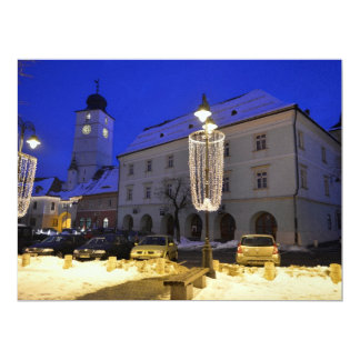 Sibiu at night personalized announcements