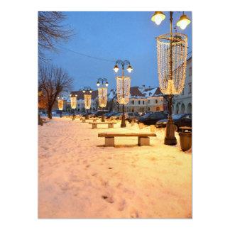 Sibiu lights 17 cm x 22 cm invitation card