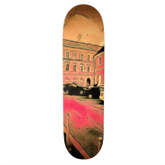 Sibiu painting 21.3 cm mini skateboard deck