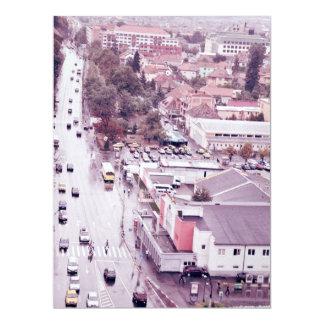 Sibiu view 17 cm x 22 cm invitation card