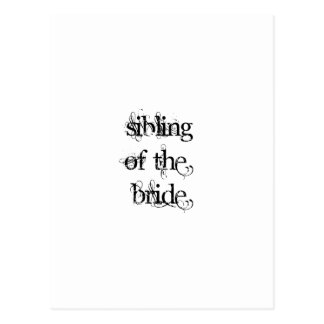 Sibling of the Bride Postcard