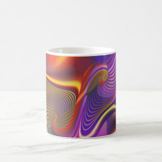 Sibling Rivalry Gnarly Fractal Basic White Mug
