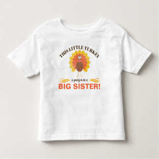 Sibling Thanksgiving Pregnancy Announcement Shirt