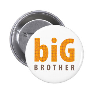 SIBLINGS COLLECTION - big brother {orange} 6 Cm Round Badge