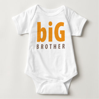 SIBLINGS COLLECTION - big brother {orange} Baby Bodysuit