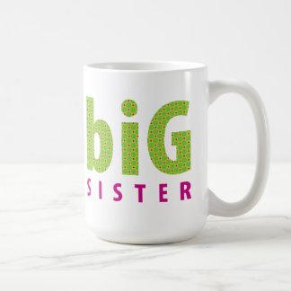 SIBLINGS COLLECTION - big sister {lime} Coffee Mug
