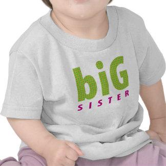 SIBLINGS COLLECTION - big sister lime Tee Shirt