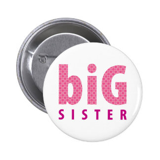 SIBLINGS COLLECTION - big sister pink Pinback Button
