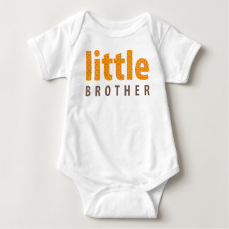 SIBLINGS COLLECTION - little brother {orange} Baby Bodysuit