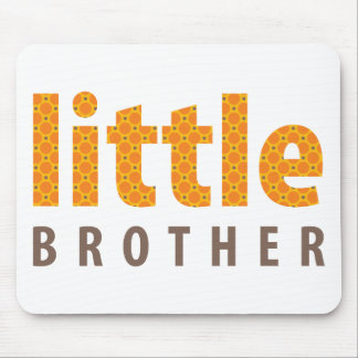 SIBLINGS COLLECTION - little brother orange Mouse Pads