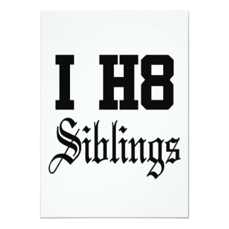 "siblings 5"" x 7"" invitation card"