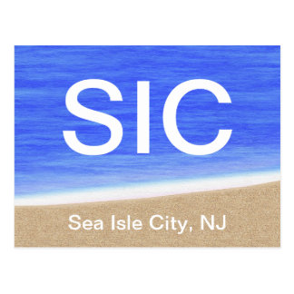 SIC Sea Isle City NJ Beach Postcard