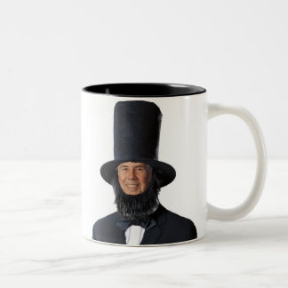 Sic semper tyrannis! Happy Presiden... Two-Tone Coffee Mug