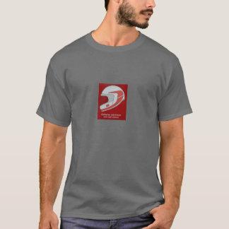 Sicherer mit Helm T-Shirt