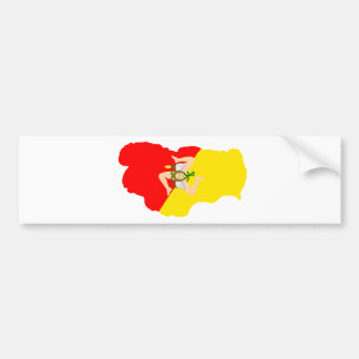 Sicilian Lake Tahoe Bumper Sticker