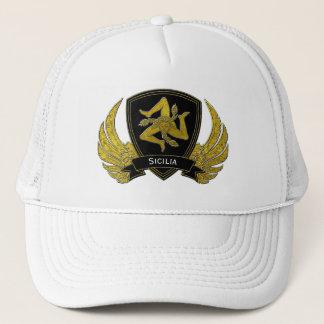 Sicilian Trinacria Black Gold Trucker Hat