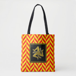 Sicilian Trinacria Gold Red Yellow Tote Bag