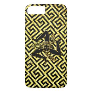 Sicilian Trinacria in Black and Gold iPhone 8 Plus/7 Plus Case