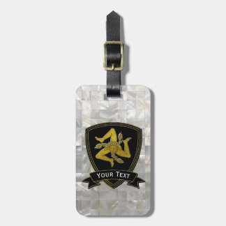 Sicilian Trinacria Mother of Pearl Pattern Luggage Tag