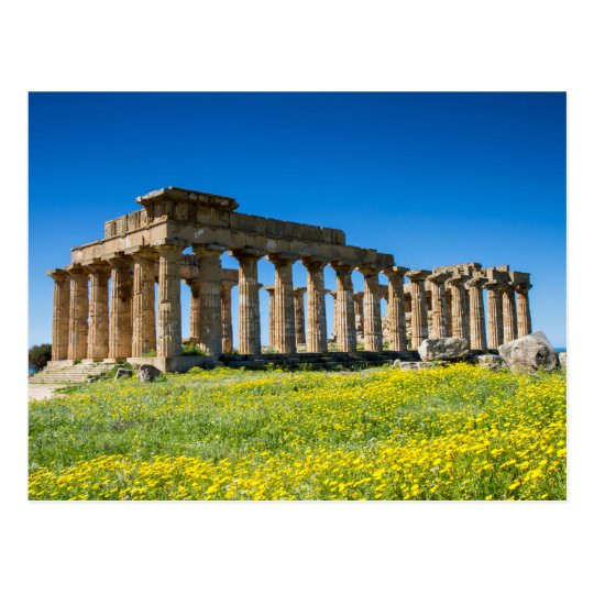 Sicily - Temple of Hera at Selinunte postcard