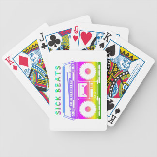 Sick Beats 80's Stereo Bicycle Playing Cards